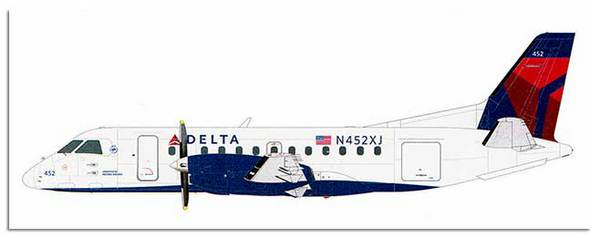 Saab 340B Delta Connect #WHSL349R