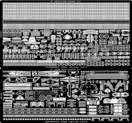 Bismarck/Tirpitz Detail Set (D)<!-- _Disc_ --> #WEM4009