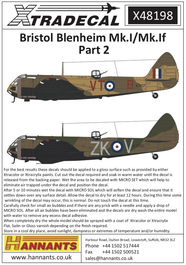 Bristol Blenheim Mk.I/Mk.If (5) #XD48198