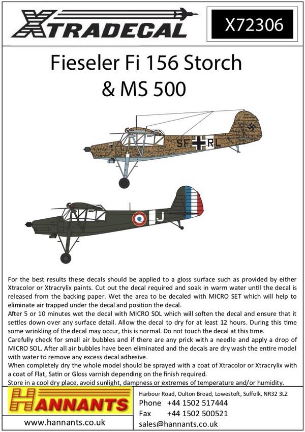 Fieseler Fi-156C-3 Storch (12) #XD72306