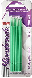 Microbrush Disposable Q-Tip Type Applicator Green MHR10 (10 pcs on Card) #BRU10