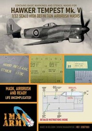 Hawker Tempest M.V RAF1 high definition stencilling and national insignia paint masks #32DET003