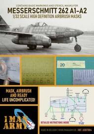 Messerschmitt Me.262A-1/Me.262B-1a/U1 high definition stencilling and national insignia paint masks #32DET004