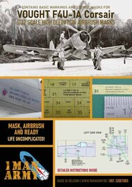 1ManArmy  1/32 Vought F4U-1A/F4U-1c/F4U-1 Corsair high definition stencilling and national insignia paint masks 32DET005