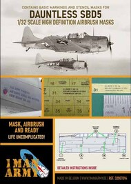 Douglas SBD-5 Dauntless high definition stencilling and national insignia paint masks #32DET014