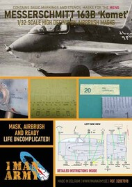 1ManArmy  1/32 Messerschmitt Me.163B Komet high definition stencilling and national insignia paint masks 32DET018
