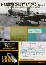 1ManArmy  1/32 Messerschmitt Bf.109G-6 early high definition stencilling and national insignia paint masks 32DET023