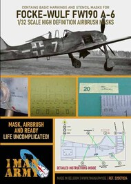 Focke-Wulf Fw.190A-6 high definition stencilling and national insignia paint masks #32DET024