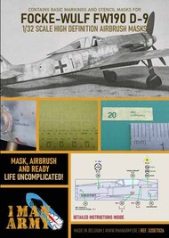 Focke-Wulf Fw.190D-9 high definition stencilling and national insignia paint masks #32DET026