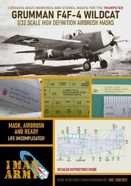 1ManArmy  1/32 Grumman F4F-4 Wildcat Masks 32DET031