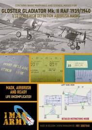 1ManArmy  1/32 Gloster Gladiator Mk.II paint Masks 32DET040