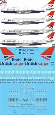 26 Decals  1/200 British Airways Negus & Negus Boeing 747-136,236,236F,436 STS20009