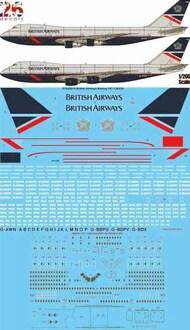 26 Decals  1/200 British Airways Landor Boeing 747-136,236 STS20010