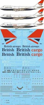 26 Decals  1/144 Re-printed! British Airways Negus & Negus Boeing 747-136,236,236F STS44131
