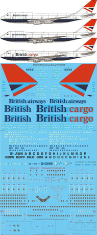 26 Decals  1/144 British Airways Negus & Negus Boeing 747-136,236,436 'BA 100' STS44131A