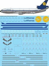 26 Decals  1/144 McDonnell-Douglas DC-10-30 Lufthansa Delivery STS44250