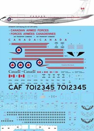 26 Decals  1/144 CAF Canadian Armed Forces Boeing CC-137 (707-347C) STS44318