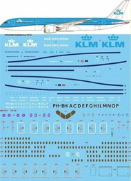 26 Decals  1/144 KLM Boeing 787-9 STS44323