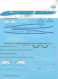 26 Decals  1/144 KLM New livery Boeing 737-8K2 STS44324