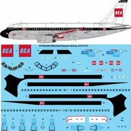 26 Decals  1/144 BEA Red Square 'BA 100' Airbus A319 STS44326