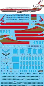 26 Decals  1/144 World Airways McDonnell-Douglas DC-10-30CF STS44327