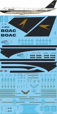 26 Decals  1/144 BOAC 'BA 100' Boeing 747-436 STS44328
