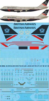 26 Decals  1/144 British Airways Landor Boeing 747-436 'BA 100' STS44329