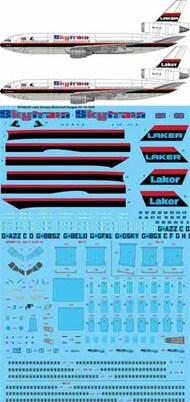 26 Decals  1/144 Laker Airways McDonnell-Douglas DC-10-10/DC-10-30 STS44334