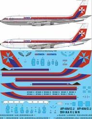 26 Decals  1/144 Air Malta Boeing 720B STS44340