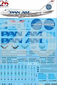 26 Decals  1/144 Pan Am Billboard Boeing 747SP Decal STS44345