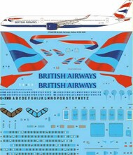 26 Decals  1/144 British Airways Airbus A350-1041 screen printed decal STS44350