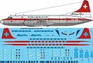 26 Decals  1/144 Swissair Convair 440 STS44352