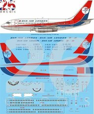 26 Decals  1/144 Dan-Air London Late Boeing 737-200 STS44354