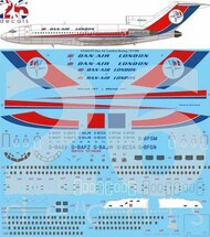 26 Decals  1/144 Dan Air London Late Boeing 727-100 STS44355