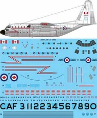 26 Decals  1/144 CAF CC-130E Hercules screen printed decal STS44358