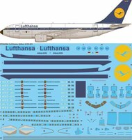 26 Decals  1/144 Lufthansa Delivery Airbus A310-200 STS44366