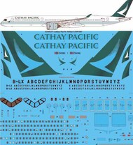 26 Decals  1/144 Cathay Pacific Airbus A350-1041 STS44371