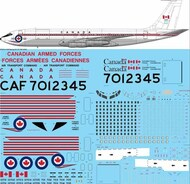26 Decals  1/72 CAF Canadian Armed Forces Boeing CC-137 (707-347C) STS7211