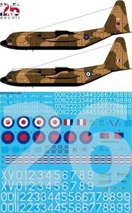26 Decals  1/72 RAF Delivery Lockheed C-130K Hercules STS7214A