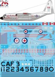 26 Decals  1/72 CAF Hi Viz Lockheed CC-130 Hercules STS7215