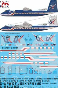 26 Decals  1/72 Air UK Handley Page Herald Decal STS7218