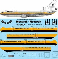26 Decals  1/144 Monarch McDonnell-Douglas DC-10-30 Laser decal TS144938