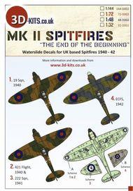 3D-Kits  1/144 Supermarine Spitfire Mk.II. 19 Sqn 3D144D002