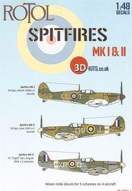3D-Kits  1/48 Supermarine Spitfire Mk.I 3D48D001