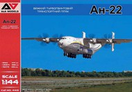 A & A Models  1/144 Antonov An-22 Heavy Turboprop Transport Aircraft (2 marking variants) AAM44001