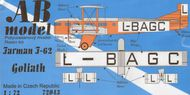 AB Models  1/72 Farman F-62 Goliath (civil version) ABK72043