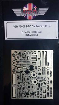 AGB Models  1/72 BAC/EE Canberra B.2/T.4 exterior AGB72006