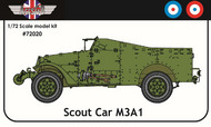 AGB Models  1/72 M3A1 Scout Car Great Britain/France AGB72020