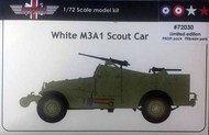 M3A1 Scout Car limited edition with resin, etched and a choice of 4 decals #AGB72030