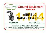 AIM - Ground Equipment  1/144 Airfield radar scanner -  http://www.aim72.co.uk/page139.html GE144006